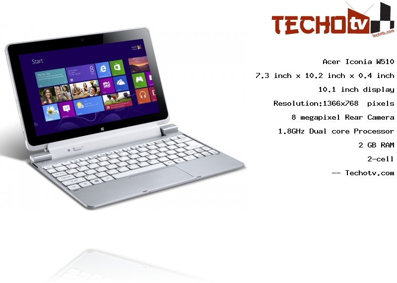 Acer Iconia W510 full specification