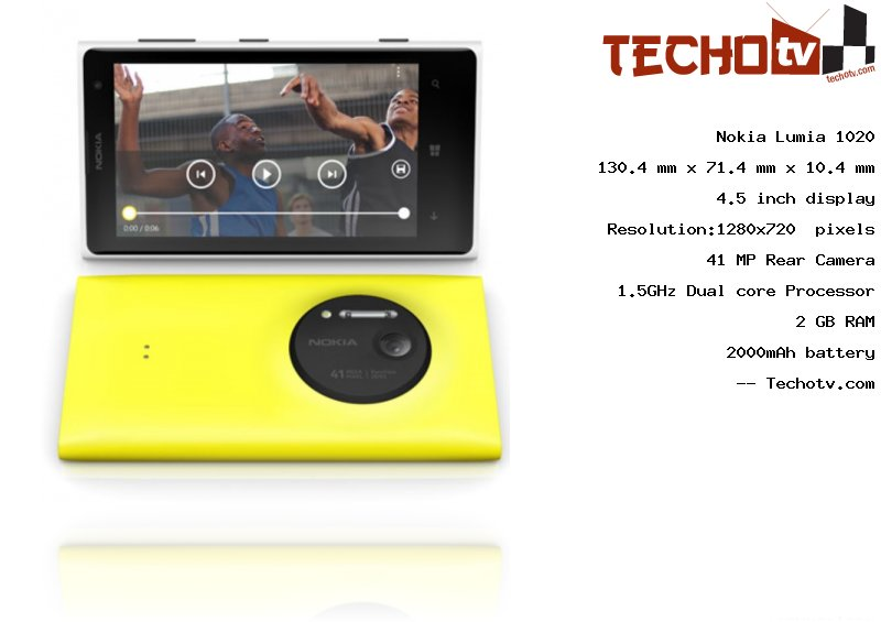 Nokia Lumia 1020 full specification