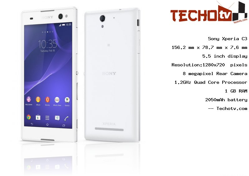 Sony Xperia C3 full specification