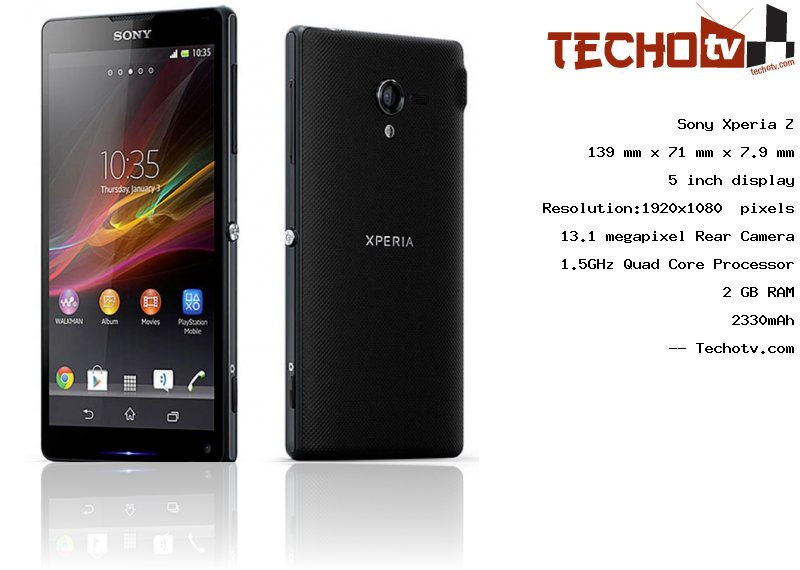 Sony Xperia Z full specification