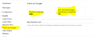 google webmaster tools 300x121 Fetch as Google in GWT for more than 500 times [How to]
