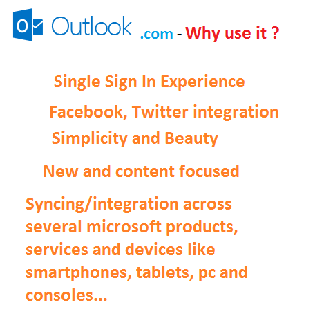 outlook features advantages