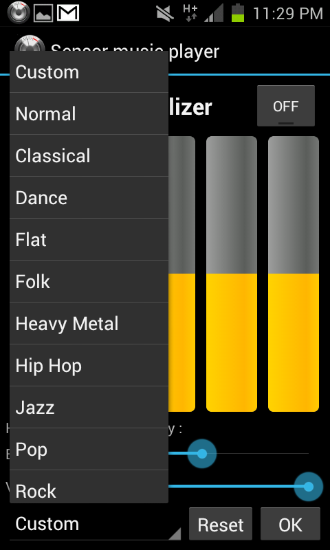 sound equalizer android apps Change songs without touching Android phone   Sensor Music Player