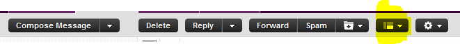 How to change yahoomail email reading mode view