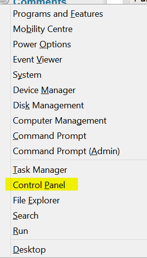 5 quick ways to open control panel on Windows 8