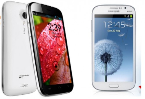 Micromax A116 Canvas HD smoked Samsung Galaxy Grand Duos