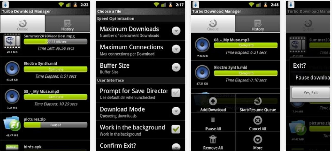 mobile download manager for android