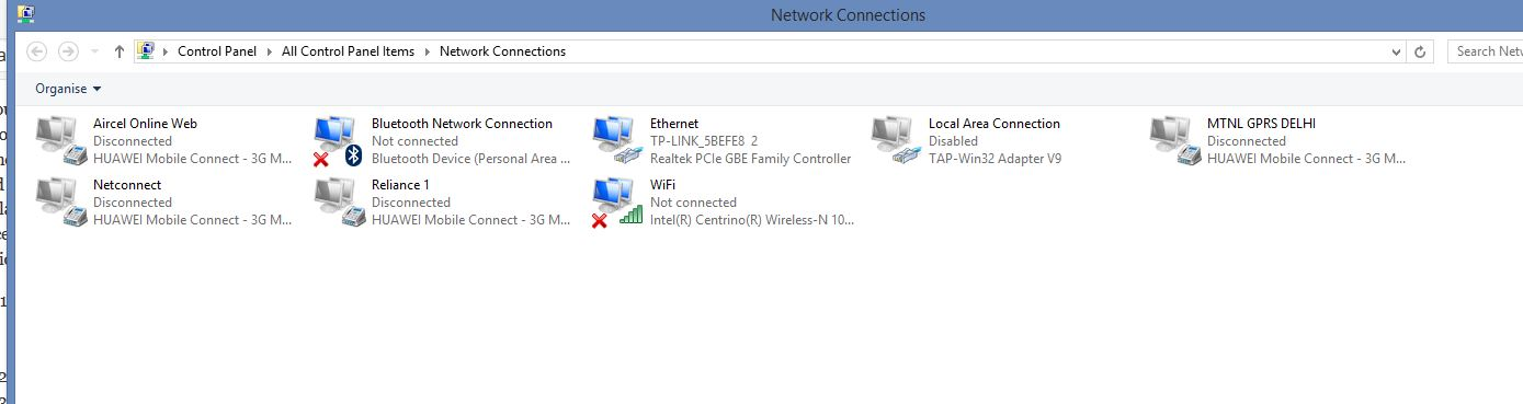 How to Create shortcut to enable/disable wired LAN ethernet connection